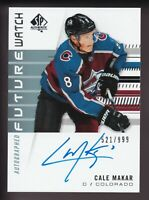 2019-20 UD Sp Authentic Future Watch Cale Makar Rookie Auto Card /999