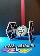 3D tie fighter perler Star Wars kandi rave EDC PLUR hama art bead festival edm