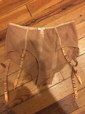 BNWT Claudette Fishnet Hi Waist Suspender Brief #102016012 Goldie Size XL
