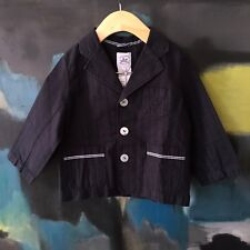 NWT Charabia France Baby Unisex Cotton 3-button Jacket Coat Size 2 Girls 2 Ans