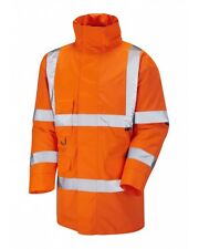 Leo Workwear Tawstock A01 Hi Vis Orange Waterproof Jacket Class 3 Snickers Direc