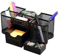 Desk Table Organizer Pencil Pen Holder Storage Tray Box Caddy Office Clip Clamp