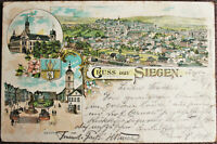 AK Gruss aus Siegen Post Theater gel. 1897