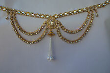 Indian Traditional Bridal Jewelry Kamar Bandh Gold Tone Chain Hip Waist Belt