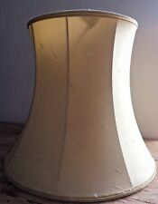 "PRELOVED LARGE PALE YELLOW TABLE / FLOOR LAMP SHADE 16"" bottom x 14 1/2"" tall"