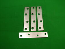 "Mending plate strap 100x19.75mm (4"") straight fixing bracket, pack 4 zinc plated"