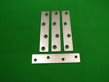 Plaque Réparation Bande 100x19.75mm (10.2cm) Droit Support de Fixation,Pack 4