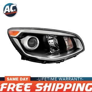 20-9517-90 Projector Headlight Assembly Black Right Side for 17-19 Kia Soul RH