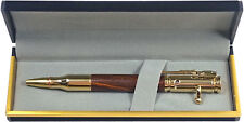 24k Gold plated Bolt Action Pen with Cocobolo Wood and Gift Box