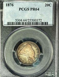 1876 20C PR64 PCGS-only 44 in higher grade- Twenty Cents