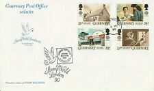 GUERNSEY 1990 EUROPA POST OFFICES STAMP WORLD 1990 COMMEMORATIVE CARD CDS
