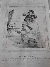 Caricature 1838 Iles Marquises l'origine d'une étymologie coiffeur