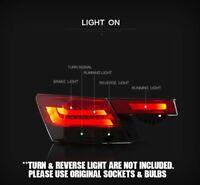LH & RH BLACK Smoke LED Tail Light Rear Lamp  for Honda Accord CP 2008-2012 RHD