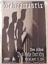 Nekromantix - Dead Girls Don't Cry RARE PROMO Poster* Tiger Army Mad Sin Meteors