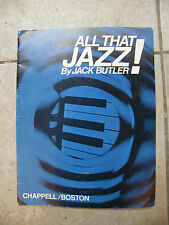 Partitur all that Jazz ! by Jack butler music -blatt