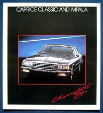 Prospekt brochure 1984 Chevrolet Chevy Caprice Classic and Impala  (USA)