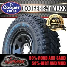 "15"" Black Steel Wheel & Cooper ST Maxx 33x12.5R15lt All Terrain Tyre 33 12.5 15"