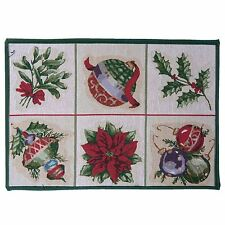 MADE IN NETHERLANDS CHRISTMAS DECORATIONS COTTON RUG MAT CARPET RED 50 X 70CM