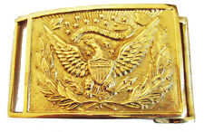 Civil War Indian Custer US Union Officers Rectangular Belt Buckle 8x6cms New