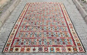 Vintage Multi Color Kilim,decorative kilim,Antique kilim,Sarkoy kilim