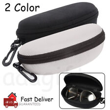 Glasses Case Box Sunglass Protector Travel Hard Eyeglass Zipper with Belt Clip
