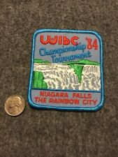 Vintage Wibc Niagara Falls Rainbow City 1984 Tournament Bowling Patch Mint