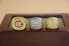 3 Pcs 1963 1985 1985 Chicago Bears Championship Ring //-
