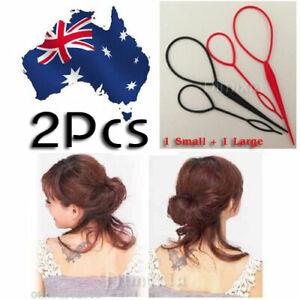 2pcs MAGIC HAIR STYLING TOPSY PONYTAIL BACK BRAID MAKER STYLER TAIL MAKER TOOLS