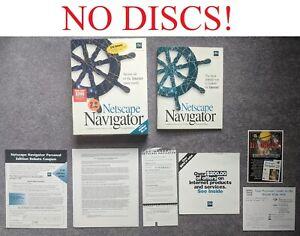Netscape Navigator 2.0 Personal Edition Windows 95 3.1 Rare Vintage Software HTF