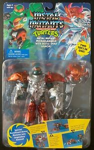 TMNT Metal Mutants Series: Michaelangelo with Beetle Spirit Armor; 1995