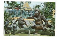 Haw Par Villa Singapore 4 Gorillas Playing Vintage 4x6 Postcard, Jul17