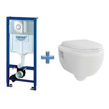 GROHE Rapid SL 1.13m Toilet Frame 38860 + Wall Hung Toilet Pan & SC Seat Pack