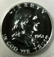 1961 Silver Proof Franklin Half Dollar 50c ~ Choice Gem Proof Silver Coin