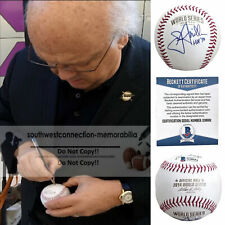 Jon Miller SF Giants Signed 2014 World Series Logo Baseball Proof Beckett BAS