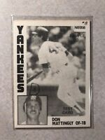 DON MATTINGLY 1984 TOPPS NESTLE TEST PROOF RC CARD YANKEES