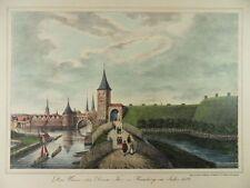 Hamburgo Anno 1587 winsertor Alster Wall Assets Peter suhr Litografia 1840 h22