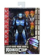 """NECA Blue Robocop Vs Terminator 7"""" Action Figure Series 2 Robocop w/ Flamer"""