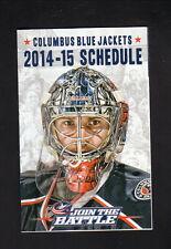 Sergei Bobrovsky--Columbus Blue Jackets--2014-15 Pocket Schedule--Ohio Health