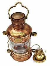 Marine Brass Anchor Oil Lamp Nautical Maritime Ship Lantern Boat Light Collectib