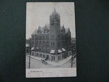 Elgin IL City Hall~Horse Wagon~Huge Towered Brick Bldg~U1906 ~postcard