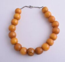Antique German Bakelite Amber / Trade Beads-Simulated Amber Strand Necklace