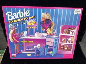 NEW Barbie Pretty Pet Parlor 1995 Mattel NIB 67154 So Much To Do