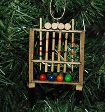 Croquet Game Set Christmas Ornament