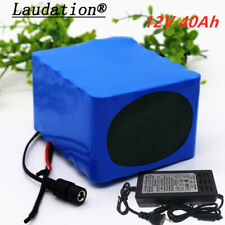 12V 40ah rechargeable lithium-ion battery for inverter, fishing lamp +3A Charger