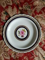 Qauldonde England  Hand painted rose plate