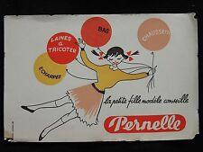 Buvard Pernelle laines à tricoter, bas écharpes collection. déco vintage couture