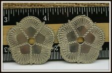Pair of unusual spur rowel decorations that look engraved or for Jewelry Making