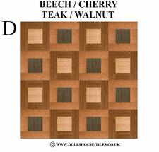 DOLLS HOUSE MINIATURES,WOODBLOCK FLOORING.WOOD FLOOR TILES.WB 7 (D) 1/12TH SCALE