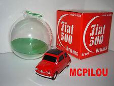 BRUMM FIAT 500 ROJO CHRISTMAS NATAL BOLA DE NOEL 2004 au 1/43°
