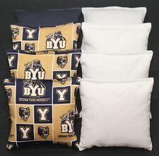 Byu Brigham Young Cougars 8 Cornhole Bean Bags Baggo Toss Game Quality Handmade!